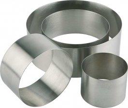 Pierścień ze stali nierdzewnej, rant okrągły, wymiary 14x5 cm, APS 00095