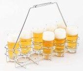 Stojak na piwo w kuflach ze stali chromowanej 40 x 16,5 cm.APS 00632