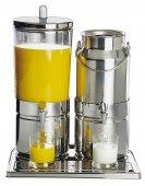 Dozownik do soku i mleka MIX TOP FRESH ze stali nierdzewnej 6 + 5 l.APS 10760