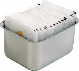 Pudełko na cukier wtorebkach 9x7,5 cm.APS 11579