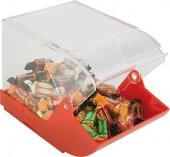 Pudełko uniwersalne z tworzywa sztucznego, czerwone 23 x 14,5 cm.APS 11885