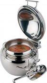 Podgrzewacz do zupy GLOBE z nierdzewną podstawą w formie kuli, do indukcji, poj. 10 l, APS 12399