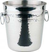 Wiadro do chłodzenia wina HAMMERSCHLAG ze stali nierdzewnej 21 / 17 cm.APS 36026
