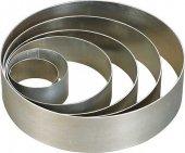 Rant cukierniczy na tort, deser, okrągły, aluminiowy, średnica 18cm, h 6cm, APS 77380