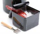 Pojemnik na lód z tworzywa sztucznego czarny 3,4 l.APS 93200