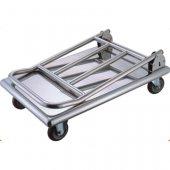 Wózek platformowy, składany ze stali nierdzewnej