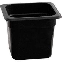 Pojemnik zpoliwęglanu GN 1/6 100 mm, czarny, 156100