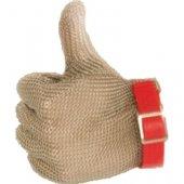 Rękawica stalowa czerwona, rozm. M, 240001