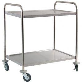Wózek kelnerski 2-półkowy ze stali nierdzewnej, 661020