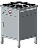 Kuchnia gazowa 1-palnikowa TG -105.IV (5 kW)