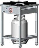 Kuchnia gazowa 1-palnikowa TG -105.III (5 kW)