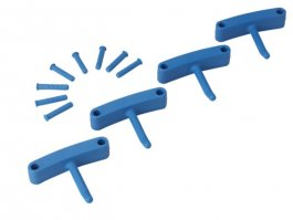 Zestaw haków poliamidowych do wieszaka 1017 i1018, 4sztuki, niebieskie, 140 mm, VIKAN 10163