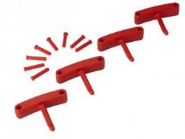 Zestaw haków do wieszaków 1017 i1018, 4sztuki, czerwone, 140 mm, VIKAN 10164