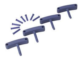 Zestaw haków poliamidowych do wieszaka 1017 i1018, 4sztuki, fioletowe, 140 mm, VIKAN 10168