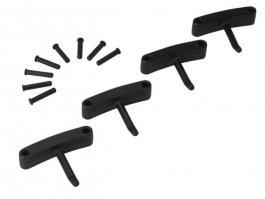 Zestaw haków poliamidowych do wieszaka 1017 i1018, 4sztuki, czarne, 140 mm, VIKAN 10169