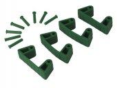 Zestaw klipsów gumowych do wieszaków 1017 i 1018, 4 sztuki, zielone, 120 mm, VIKAN 10192