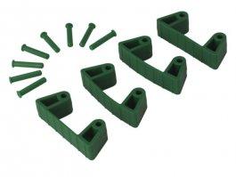 Zestaw klipsów gumowych do wieszaków 1017 i1018, 4sztuki, zielone, 120 mm, VIKAN 10192