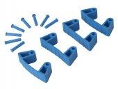 Zestaw klipsów gumowych do wieszaków 1017 i 1018, 4 sztuki, niebieskie, 120 mm, VIKAN 10193