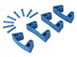 Zestaw klipsów gumowych do wieszaków 1017 i1018, 4sztuki, niebieskie, 120 mm, VIKAN 10193