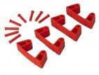 Zestaw klipsów gumowych do wieszaków 1017 i 1018, 4 sztuki, czerwone, 120 mm, VIKAN 10194