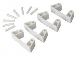 Zestaw klipsów gumowych do wieszaków 1017 i1018, 4sztuki, białe, 120 mm, VIKAN 10195