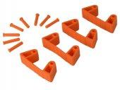 Zestaw klipsów gumowych do wieszaków 1017 i 1018, 4 sztuki, pomarańczowe, 120 mm, VIKAN 10197