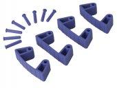 Zestaw klipsów gumowych do wieszaków 1017 i 1018, 4 sztuki, fioletowe, 120 mm, VIKAN 10198