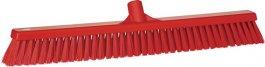 Miotła zdwoma rodzajami włosia, czerwona, 610 mm, VIKAN 31944