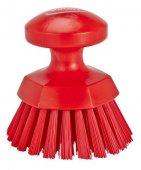 Szczotka okrągła do szorowania, twarda, czerwona, 110 mm, VIKAN 38854