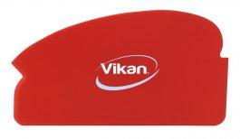 Elastyczny zgarniacz ręczny, strychówka, skrobaczka czerwona, 165 mm, VIKAN 40514