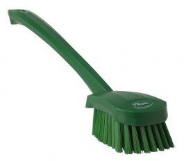 Szczotka do mycia zdługą rączką, zielona, 415 mm, VIKAN 41822