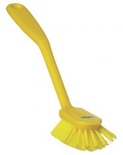 Szczotka do naczyń zkońcówką do drapania, żółta, 280 mm, VIKAN 42376