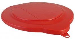 Polipropylenowa pokrywa do wiadra 6-litrowego, czerwona, VIKAN 56894