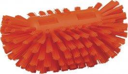 Szczotka do czyszczenia okrągłych zbiorników, twarda, pomarańczowa, 205 mm, VIKAN 70377