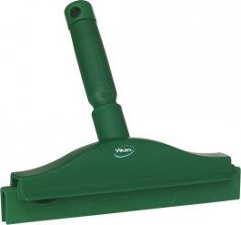 Ściągaczka higieniczna zuchwytem, zpodwójnym piórem, zielona, 250 mm, VIKAN 77112