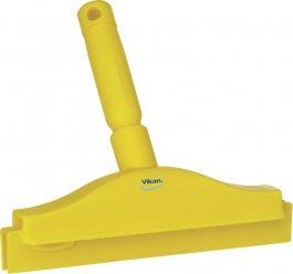 Ściągaczka higieniczna zuchwytem, zpodwójnym piórem, żółta, 250 mm, VIKAN 77116