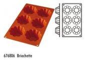 Forma silikonowa Brioszki - 6 otworów