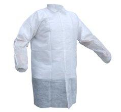 Fartuch laboratoryjny zpolipropylenu, jednorazowy XL