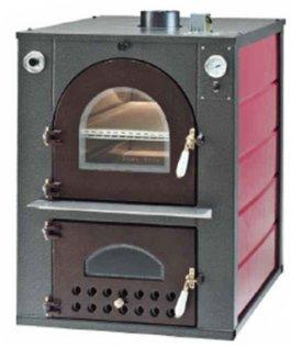 Piekarnik - piec GE-61100V 2-komorowy opalany drewnem, do zabudowy własnej, zwentylatorem