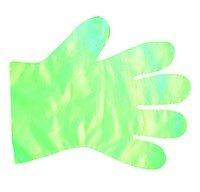 Rękawice jednorazowe PE, zielone (100szt.)