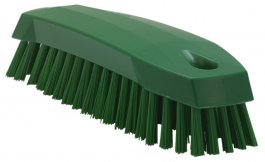 Szczotka ręczna do mycia, szorowania, średnia, zielona, 165 mm, VIKAN 35872