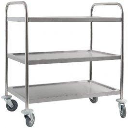 Wózek kelnerski 3-półkowy ze stali nierdzewnej, 661030