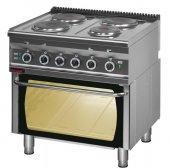 Kuchnia elektryczna 4-płytowa 700.KE-4/PE-2 (16,3 kW) z piekarnikiem elektrycznym