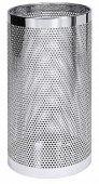 Śmietnik perforowany / Kosz nierdzewny na parasole, średnica 23,3cm, wysokość 50cm, model 1611/255