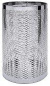 Śmietnik perforowany / Kosz nierdzewny na parasole, średnica 30 cm, wysokość 55 cm, model 1611/300