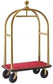 Hotelowy wózek bagażowy, złoty, szer. 61cm, dł. 110cm, model 1652/115