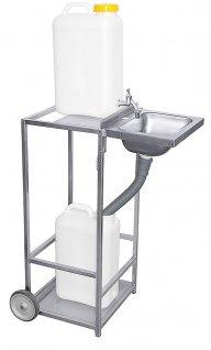 Mobilny zestaw rozkładany do mycia, niezależny, wysokość 85cm, model 4007/850