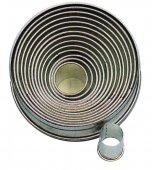 Zestaw wycinarek okrągłych do ciasta / nierdzewne foremki do wycinania, 14 sztuk, wym. 22-113mm, h. 30mm