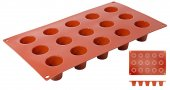 Mata Non-Stick do pieczenia 30x17,5cm, Dariol 15 szt. forma na dariole, model 6633/315