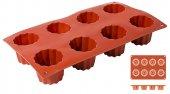 Mata Non-Stick do pieczenia 30x17,5cm na 8 wypieków, forma  Bordelaise, model 6639/058